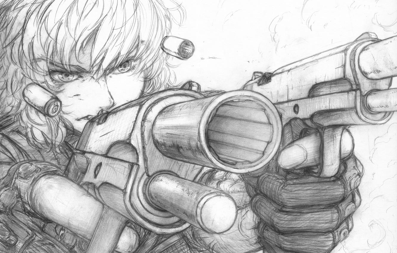 Аниме картинки для срисовки девушки с оружием