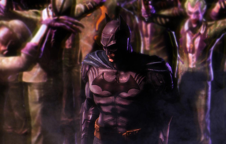 Фото обои batman, костюм, joker, dc comics, bruce wayne, riddler