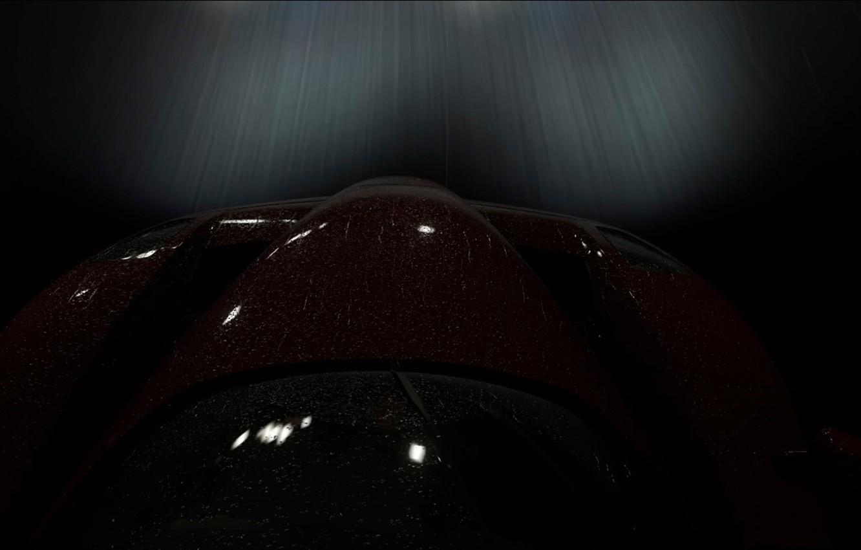 Фото обои ночь, скорость, Ferrari Enzo