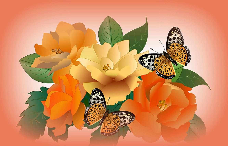 Обои вектор, абстракция, цветы, открытка. Разное foto 18