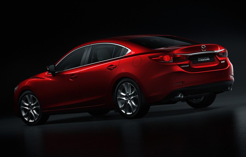 Фото обои red, Auto, sedan, mazda-6
