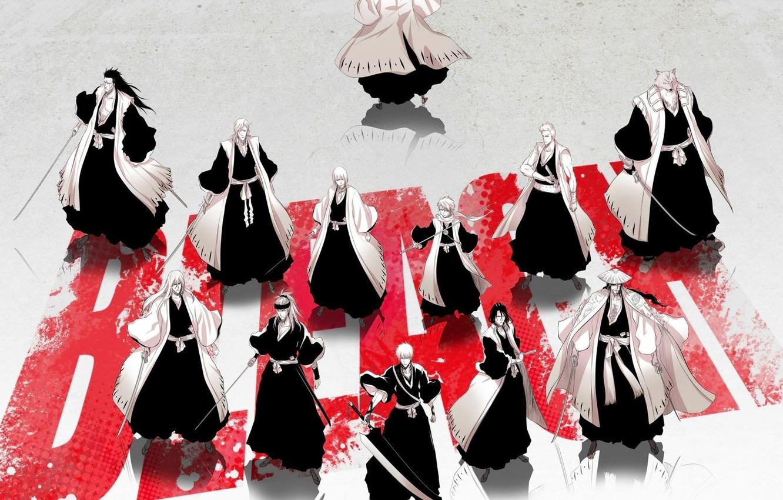 Фото обои wallpaper, sword, game, bleach, fox, anime, kurosaki ichigo, katana, man, boy, byakuya, captain, manga, strong, …