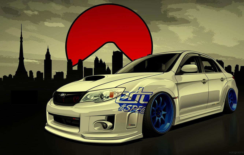 Фото обои Subaru, Impreza, WRX, STI, Субару, Импреза, Drift Spec Vector, by Edcgraphic