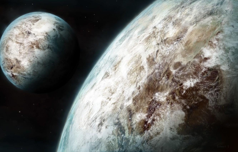 Фото обои Космос, Планеты, Space