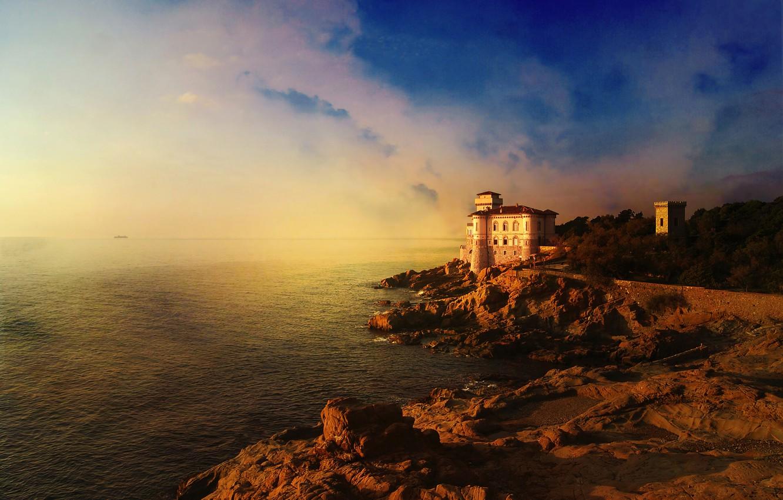 Фото красивых закатов в испании у замка