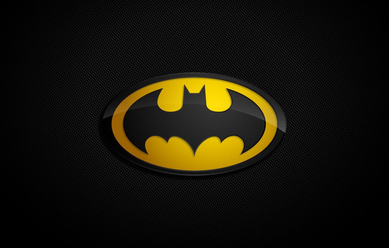 Фото обои фон, логотип, бэтмен