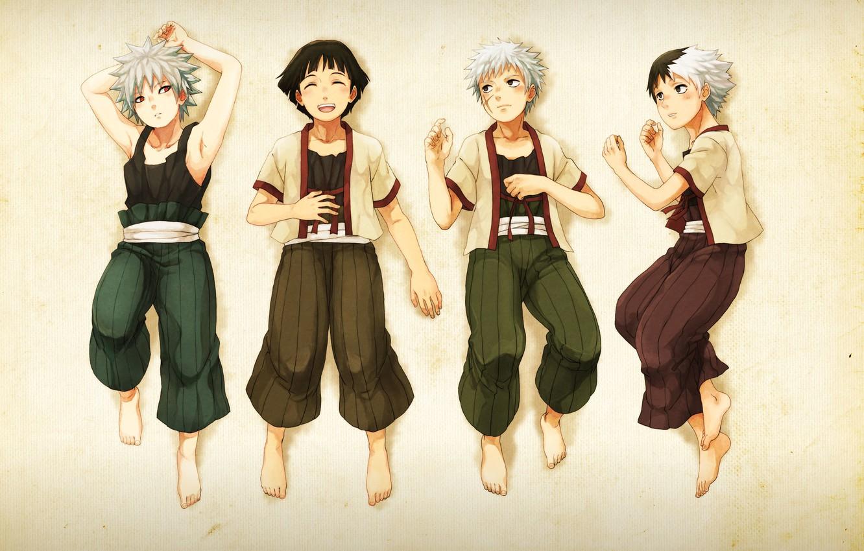 Фото обои naruto, art, brothers, the Senju clan, Hashirama, Kawarama, Tobirama, Itama