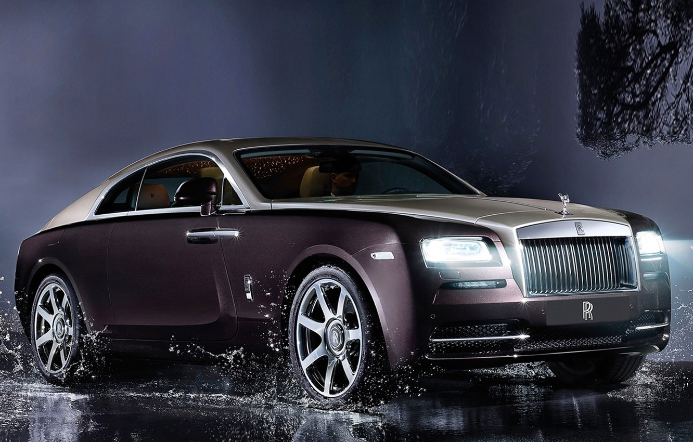 Фото обои брызги, купе, Rolls-Royce, лимузин