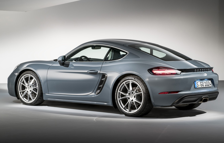 Фото обои фон, купе, Porsche, Cayman, порше, кайман, 718