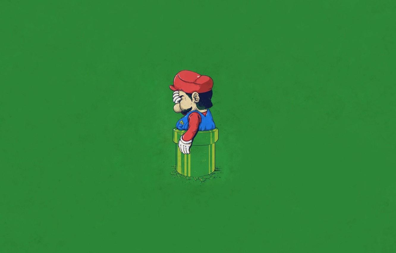 Обои пиксельный герой, марио, пикселизация. Минимализм foto 9