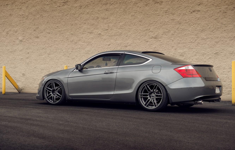 Фото обои Honda, grey, tuning, accord