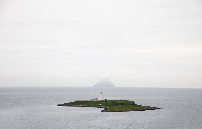Фото обои море, маяк, остров