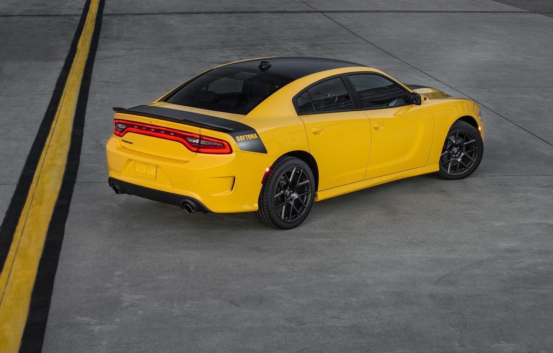 Фото обои car, Dodge, автомобиль, додж, yellow, Charger, Daytona