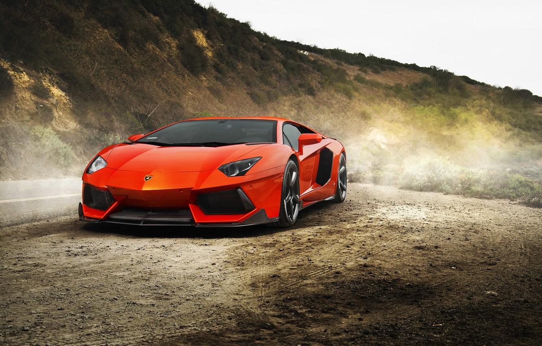 Фото обои supercar, автообои, Lamborghini Aventador