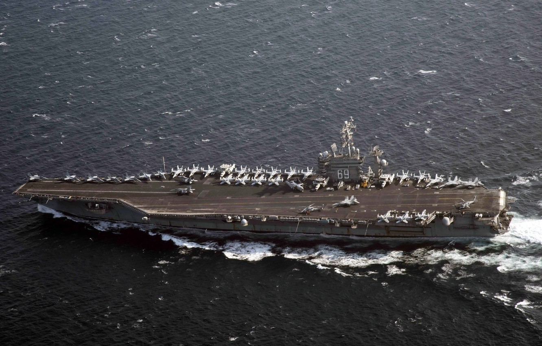Фото обои оружие, армия, флот, aircraft carrier, USS Dwight D. Eisenhower (CVN 69)