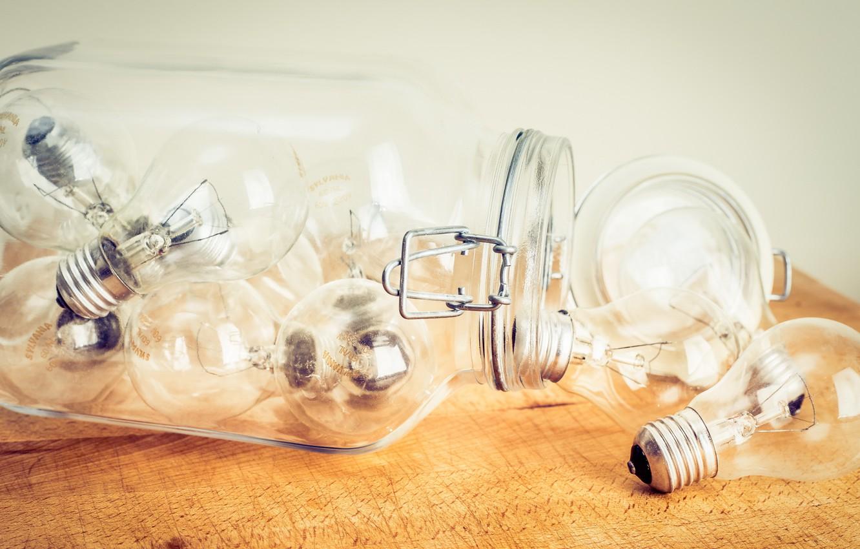 Обои Лампочки, банка. Разное foto 6