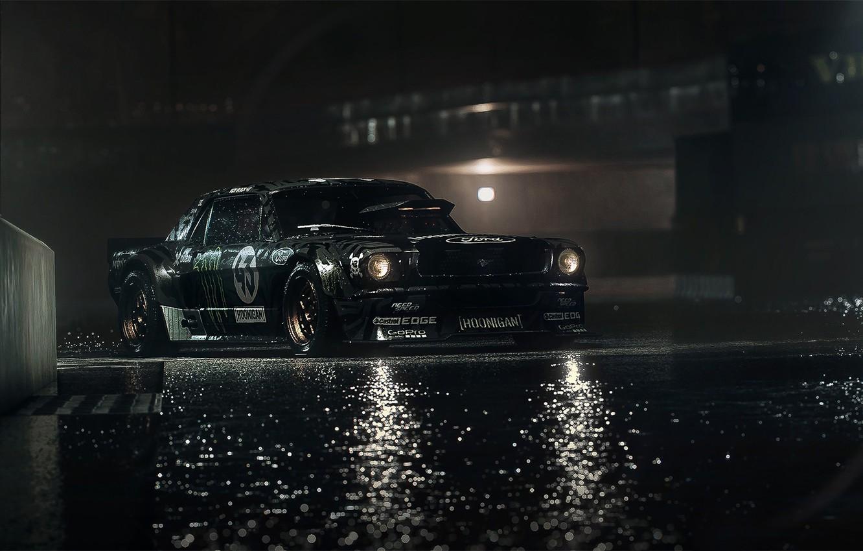 Обои dark, gymkhana, rear, hoonicorn, ken block, 845 hp, rtr, 1965. Автомобили foto 7
