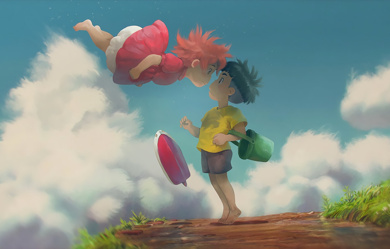 Фото обои Аниме, Studio Ghibli, Sosuke, Ponyo