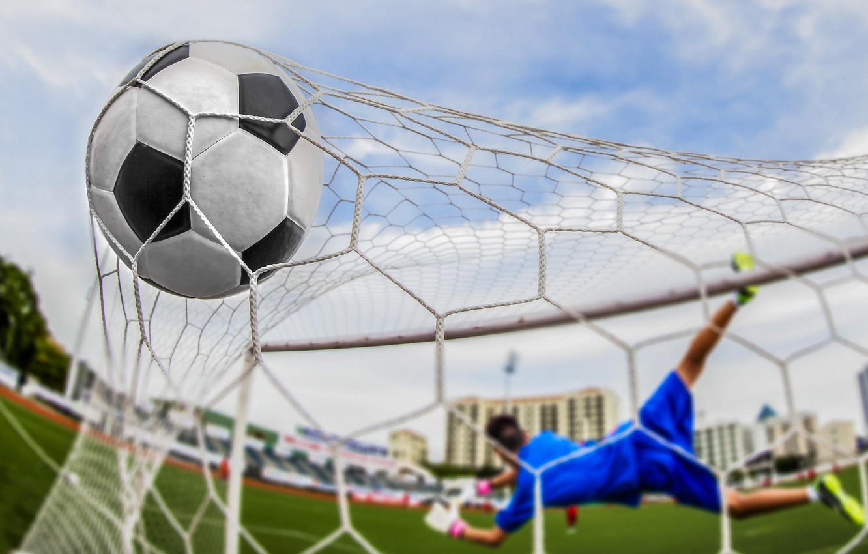 Фото обои soccer, goal, ball