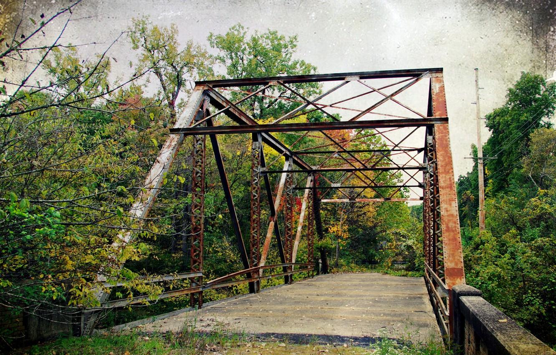 Фото обои дорога, мост, стиль, фон