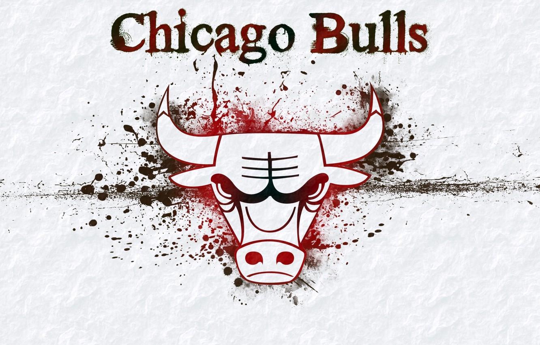 Фото обои фон, логотип, лого, баскетбол, Logo, NBA, Chicago Bulls, бык, нба, Basketball, чикаго буллз