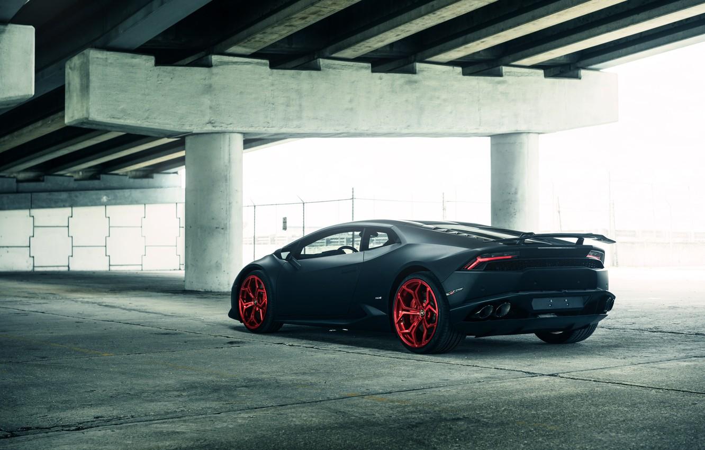 Фото обои Matte Black, Lamborghini Huracan, Lamborghini Huracan Vellano MC Matte Black