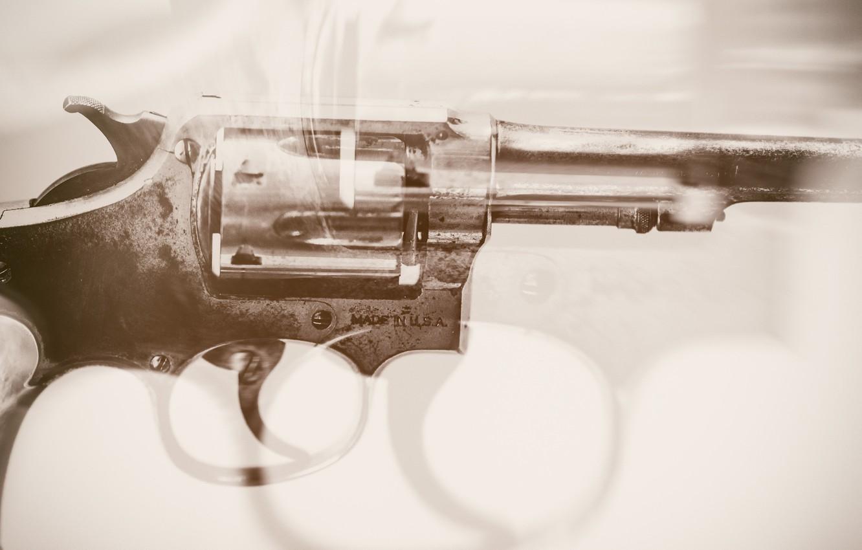 Фото обои оружие, фон, револвер