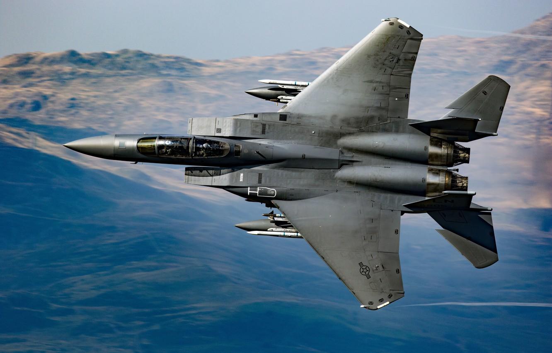Обои Mcdonnell douglas, истребитель, Самолёт, eagle, Облака. Авиация foto 12