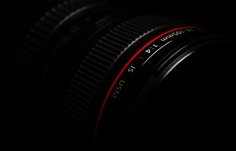 Фото обои черный, камера, фотоаппарат, объектив, canon
