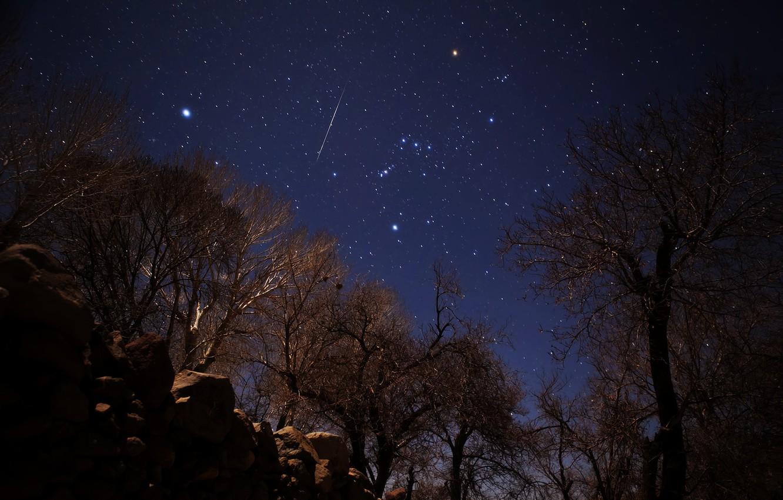 Фото обои звезды, метеор, Геминиды, Иран