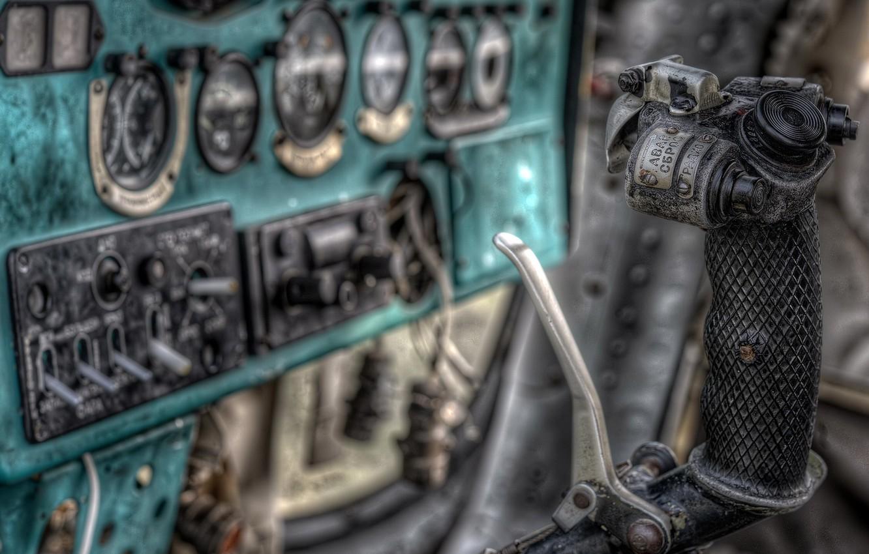 Фото обои кабина, самолёт, штурвал