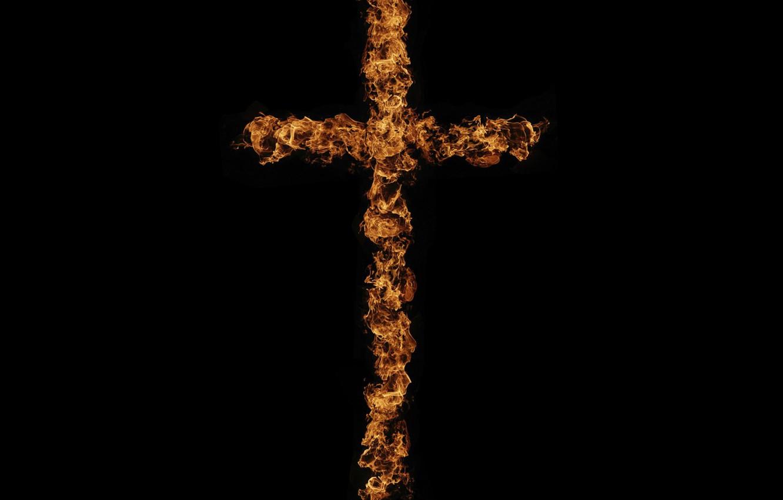 Картинка крест на черном фоне