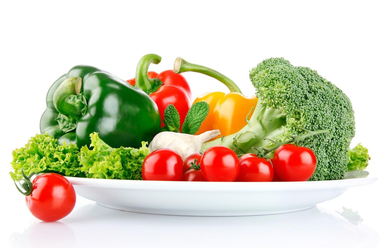 Обои помидоры, овощи, чеснок, брокколи, салат, Перец. Еда foto 6