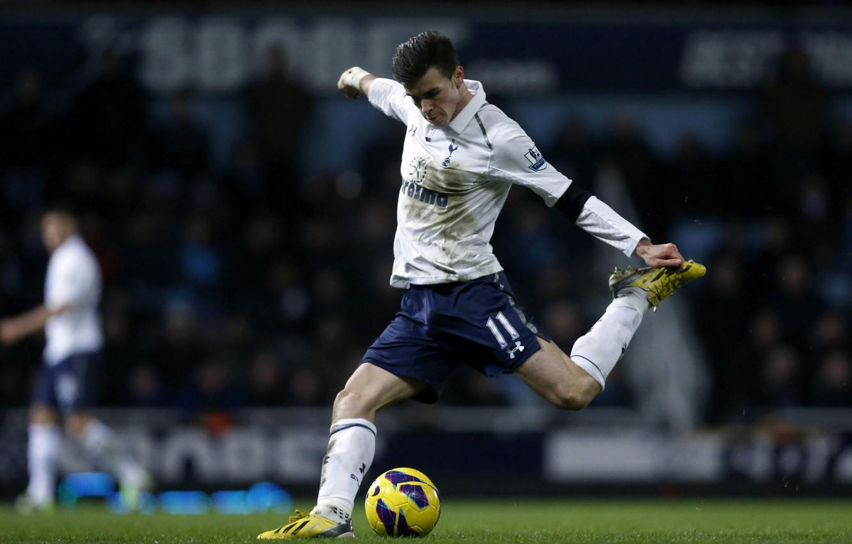 Фото обои Футбол, Football, Гол, Уэльс, Bale, Gareth, Бейл, EPL, Spurs, Тоттенхем, Tottenham Hotspur