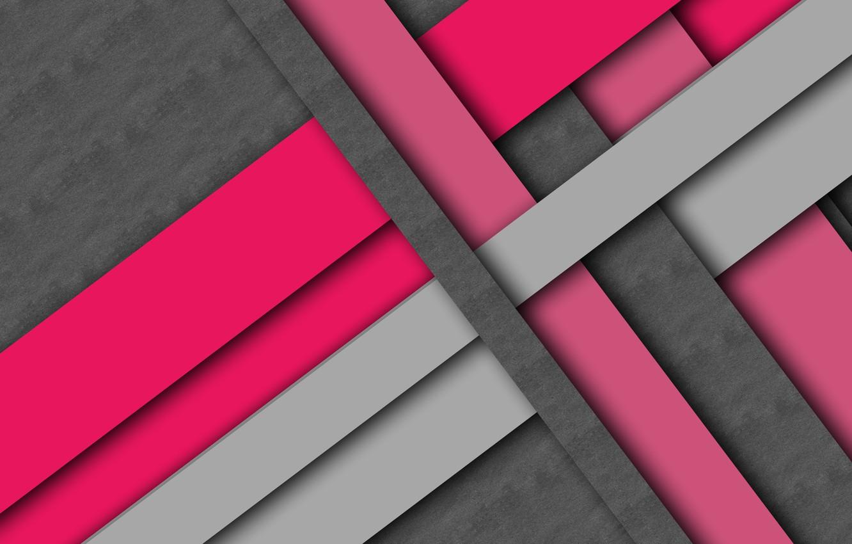 Фото обои линии, серый, фон, розовый, текстура, малиновый