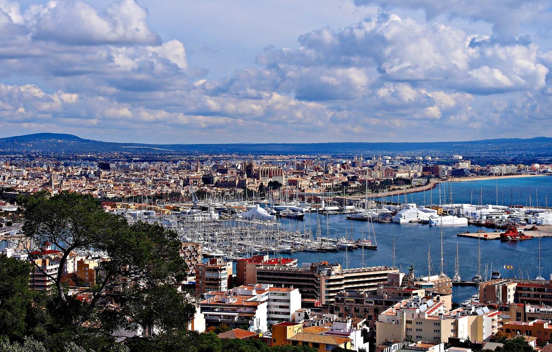 Обои Испания, Пальма-де-Майорка, дома, бухта. Города foto 6