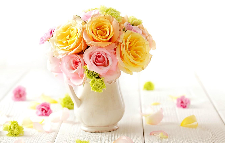Фото обои розы, букет, нежные, flowers, bouquet, roses, tender, pastel
