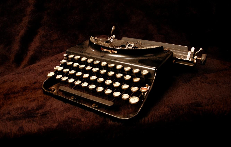 Фото обои фон, пишущая машинка, Remington