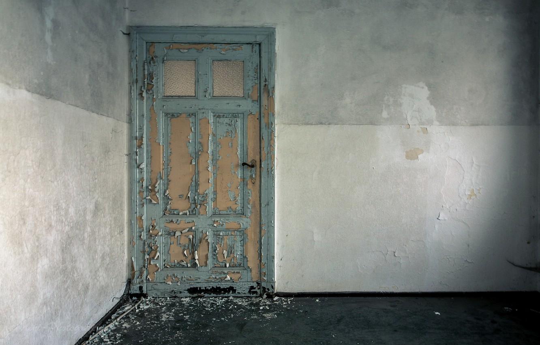 Фото обои комната, стены, дверь