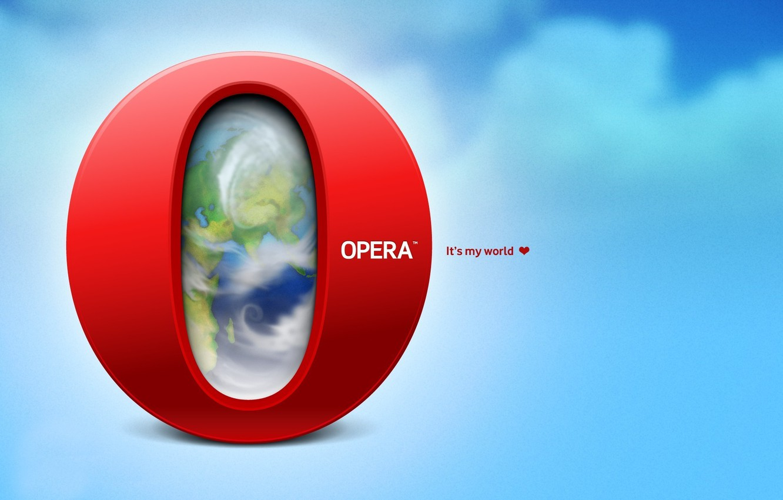 Фото обои буква, it's my world, opera