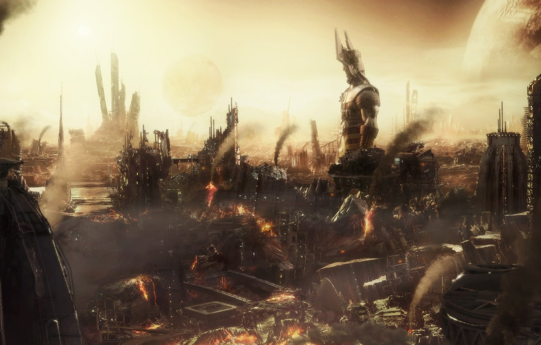 Обои статуя, разрушения, апокалипсис. Фантастика foto 6