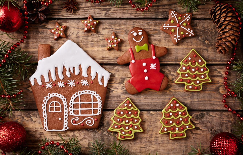 Обои decoration, рождество, xmas, cookies, Merry, christmas. Новый год foto 17