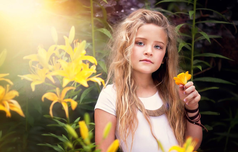 Обои Девочка, child, портрет. Разное foto 9