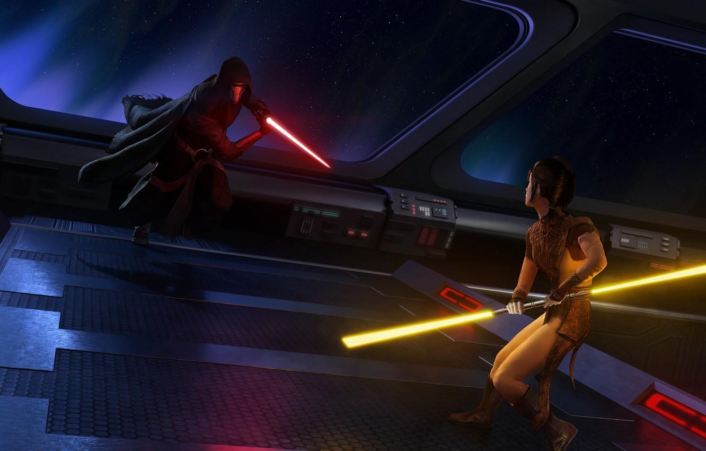 Фото обои Star wars, Jedi, Darth Revan, Sith, knights of the old republic, Kotor, Bastila