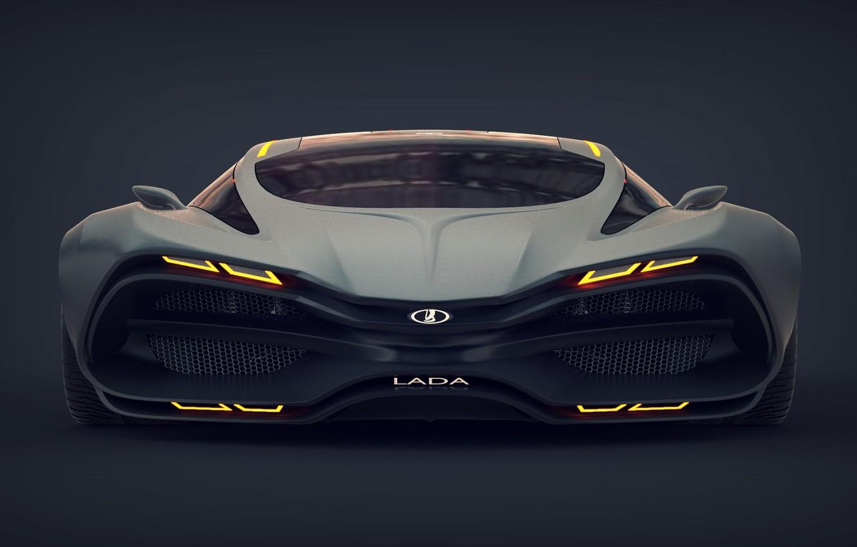 Фото обои Concept, Car, Lada, Лада, Передок, Raven, Равен