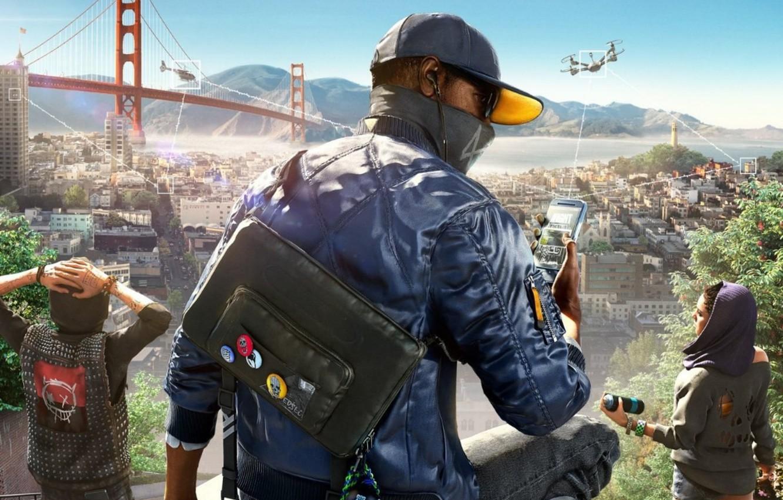 Фото обои Ubisoft, San Francisco, Game, Marcus, Маркус Холлоуэй, Watch Dogs 2, DedSec