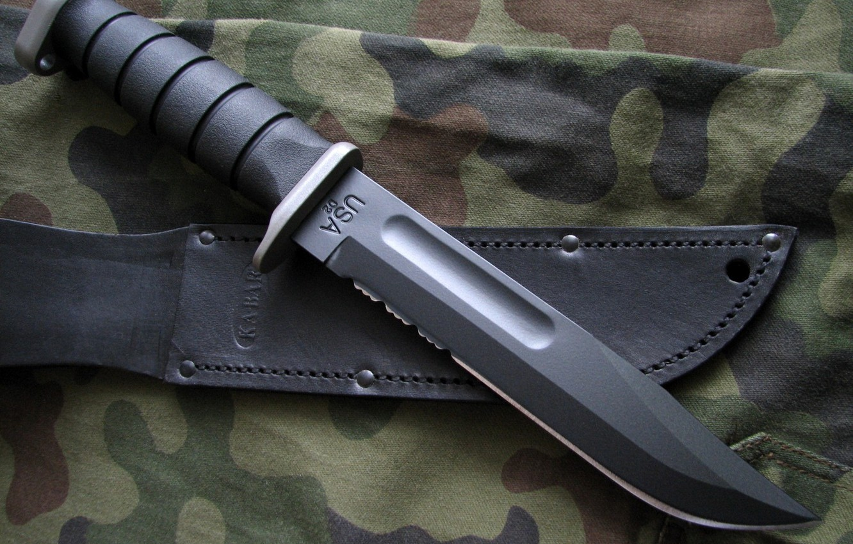 Фото обои нож, военный, чехол, холодное оружие