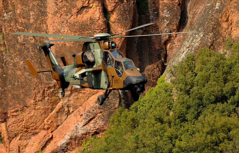 Обои ec 665, ударный, Tiger, Eurocopter. Авиация foto 11