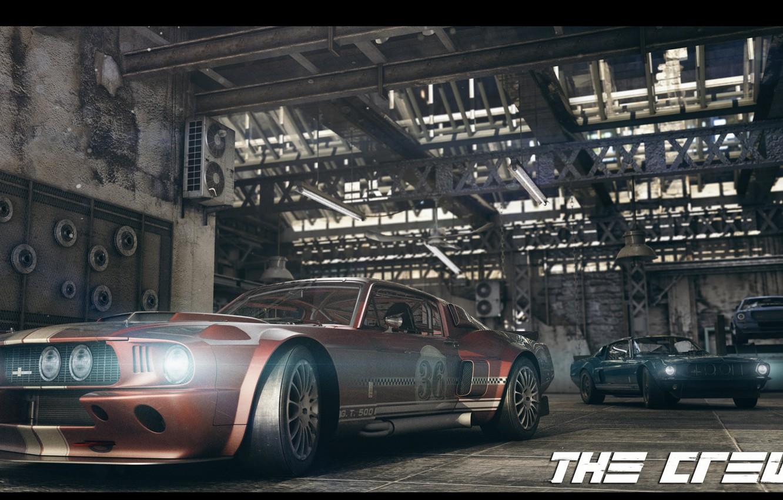 Фото обои гараж, Гонка, ford, the crew, GT-500
