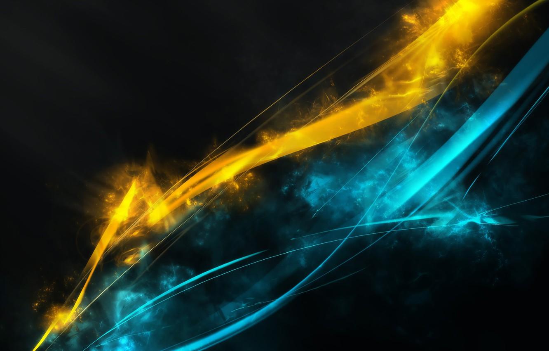 Обои Цвет, синий, желтый. Абстракции foto 7